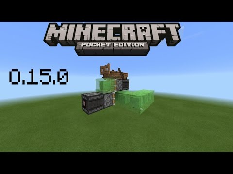 HOW TO MAKE A PLANE IN MINECRAFT PE 0.15.0 | 0.15.0 REDSTONE CREATION [NO MODS]