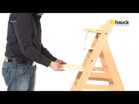 Hauck Alpha Wooden Highchair - Demonstration Video | Nursery Furniture Store