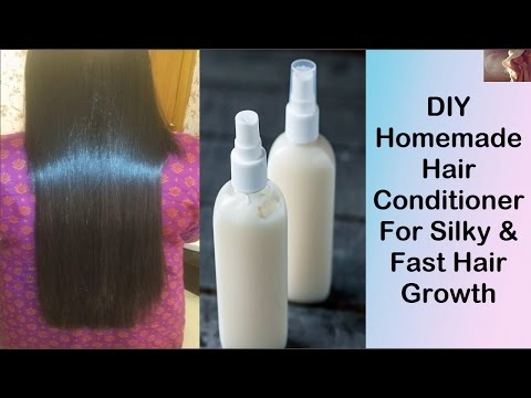 DIY Homemade Hair Conditioner For Silky & Fast Hair Growth