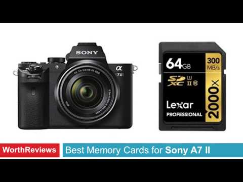 Best Memory Cards for Sony A7 II Camera