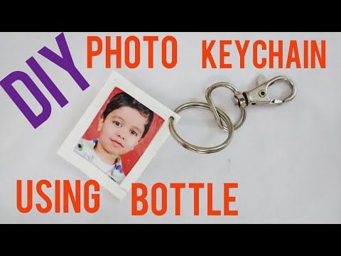 DIY Photo Keychain Using Old Bottle : How To Make  Custom Keychain | Gift Idea