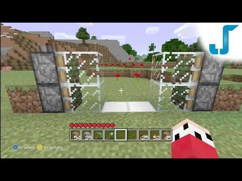 Minecraft Xbox: Lockable Piston Doors [TUTORIAL] Sliding Glass Doors