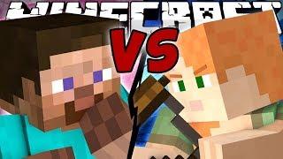 Minecraft - STEVE vs ALEX