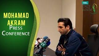 PSL 2017 Match 19: Mohammad Akram Press Conference