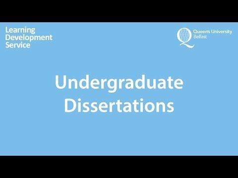 Undergraduate Dissertations Workshop