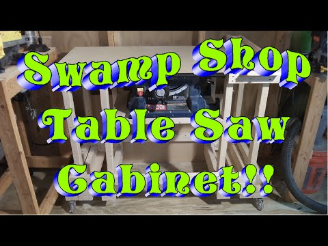 Swamp Shop Table Saw Cabinet!!