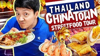 $1 NOODLES!  STREET FOOD Tour of CHINATOWN Yaowarat in Bangkok Thailand