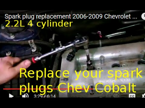 Spark plug replacement 2006-2009 Chevrolet Cobalt Install Remove Replace How to