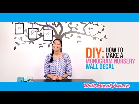 Do it Yourself: How to Make a Monogram Nursery Wall Decal