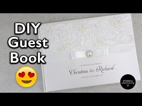 Hardcover Wedding Guest Book Tutorial - DIY Wedding Invitations, Eternal stationery