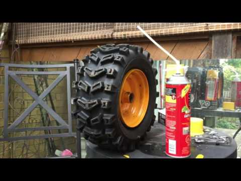 How to Fill a Tire with Foam, No More Flat Tires. DIY Life Hack