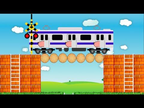 電車 踏切 駆け込み乗車 Railroad crossing train Last-minute ride