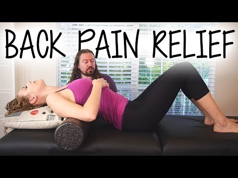 Back Pain Relief at Home, How to Use a Foam Roller for Neck Pain, Headache Relief | Robert Gardner