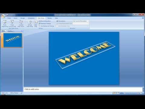 Powerpoint training |How to Make 3D text Gold Word Art in Powerpoint