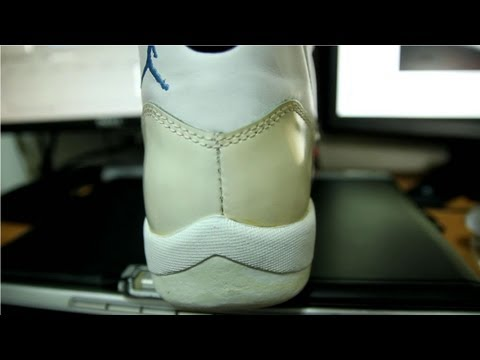 Yellowing White Patent Leather versus Sauce (How to restore it)