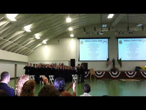 MP Oath - Charlie Rock - 787th MP Battalion 12-11 - July 14, 2011