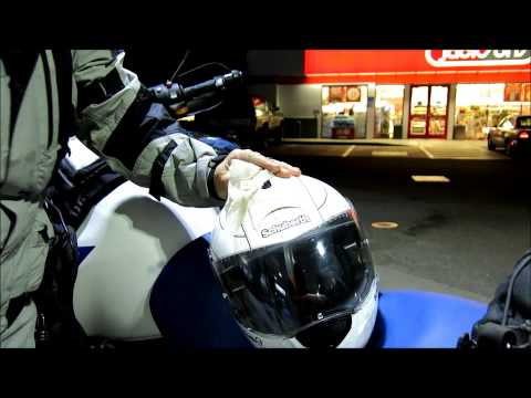 Wipe-Buff-Ride  How to clean off 700 miles of bugs on your helmts visor!