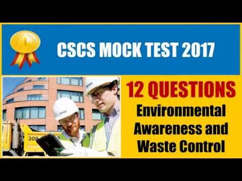 CSCS 2016 - Environmental Awareness and Waste Control