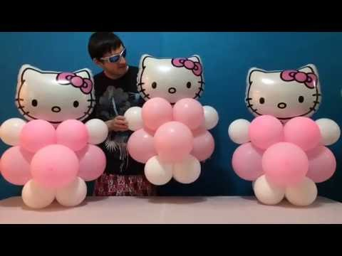 Easy Hello Kitty Balloon Decorations!