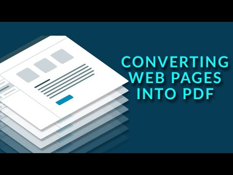 How to Convert Webpages into PDF File Format