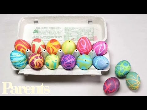 How to Make Easter Eggs With Rubber Cement | Parents