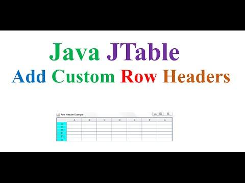 Java JTable Ep.03 - Add Custom Vertical  Row Headers
