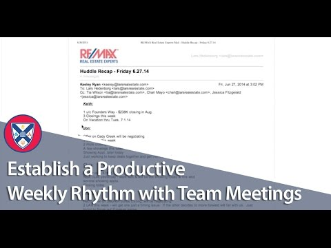 Establish a Productive Weekly Rhythm with Team Meetings