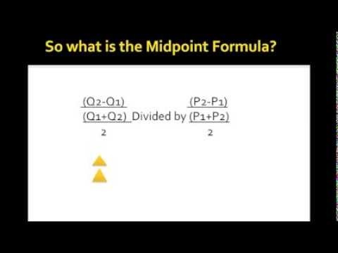 The Midpoint Formula Econ 150