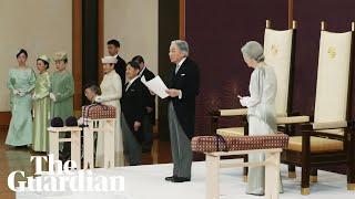 Japanese Emperor Akihito Abdicates In Historic Ceremony