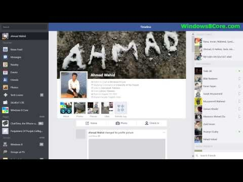 Windows 8.1: How to change your Facebook profile photo using official app