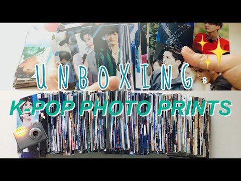 unboxing kpop photo prints → diy kpop photocards ✂