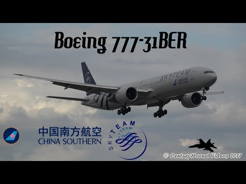 SkyTeam Livery China Southern Airlines Boeing 777-31BER Landing @ Toronto Pearson Int'l June 9, 2017