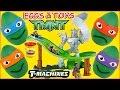Teenage Mutant Ninja Turtles T Machines Turtles Revenge Track Playet TMNT Play Doh Surprise Eggs