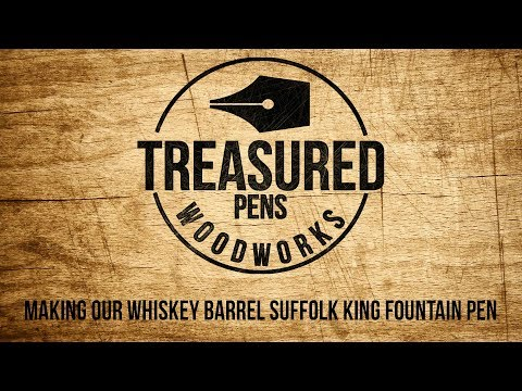 Turning our Whiskey Barrel Suffolk King Fountain Pen