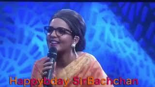 Sugandha Mishra Singing for Sir Bachchan
