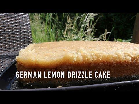 German Lemon Drizzle Cake // Tray Cake // Vegan // Recipe