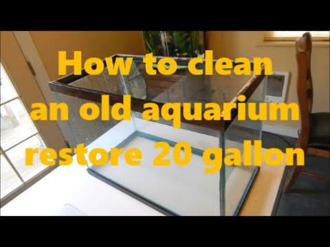 How to clean an old aquarium/restore 20 gallon tall