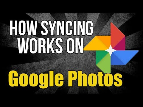 The syncing process   Google Photos