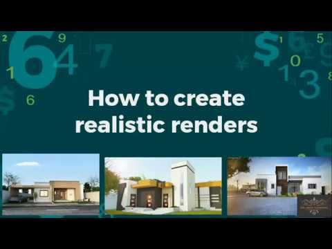 how to make realistic renders from sketch up,3ds max ,lumion ,vray -the untold secret