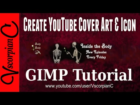 GIMP Tutorial - How to make yt channel art & Icon by VscorpianC