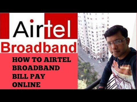 How to pay Airtel broadband bill online with in sec. by paytm