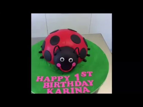 How to make a lady bug cake