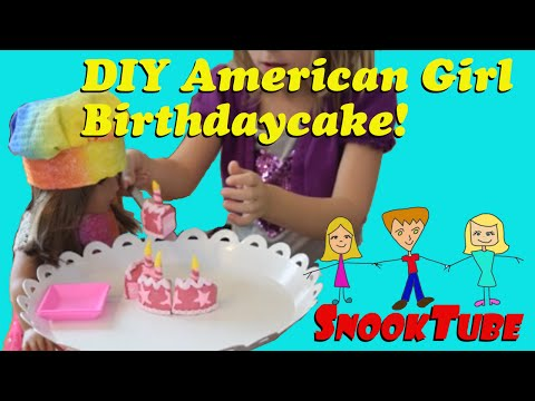 DIY American Girl Birthday Cake!
