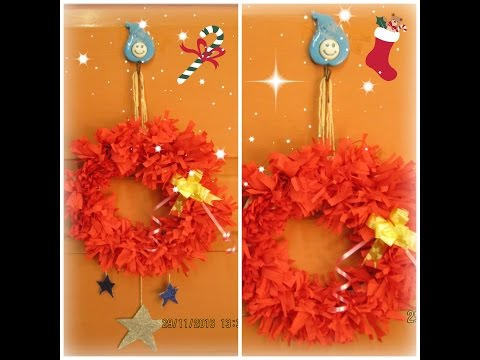 DIY Christmas Decorations part1|| How to make garland - wreath