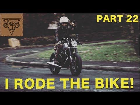 Honda CB125 Cafe Racer Build  - Part 22 - I RODE THE BIKE! + Seat finally upholstered