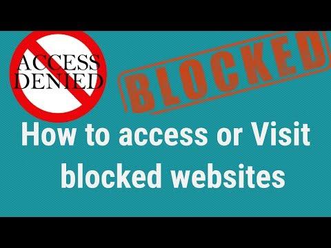 How to access blocked websites or How to open blocked websites ।EraIT