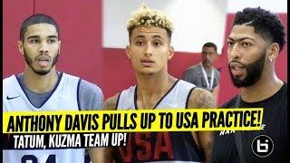 Anthony Davis watches Jayson Tatum & Kyle Kuzma Team Up! Can USA Basketball Win Gold Medal?!