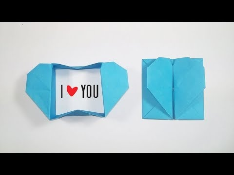 Origami Heart Box & Envelope | How to Make a Paper Heart Envelope for Valentine's Day