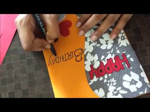 Beautiful Handmade Birthday card idea for Wife | complete tutorial