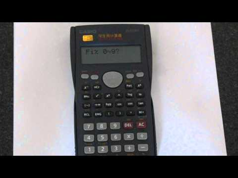 How To Change the Number of Decimal Places on a Casio Fx-82MS